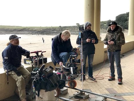 Murder By The sea film crew